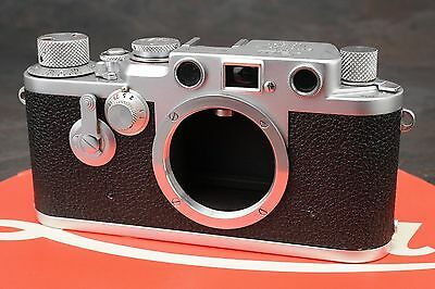 :Leica IIIF Red Dial Self Timer RD ST 35mm Film Rangefinder Camera - Read