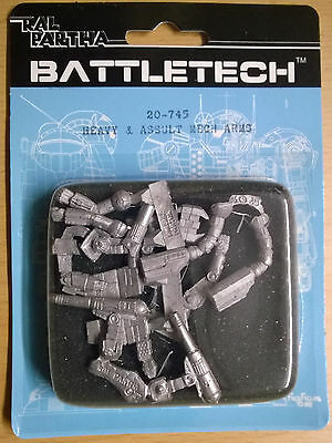 Ral Partha Battletech 20-745 Heavy & Assault Mech Arms (Mint, Sealed) *Unseen*