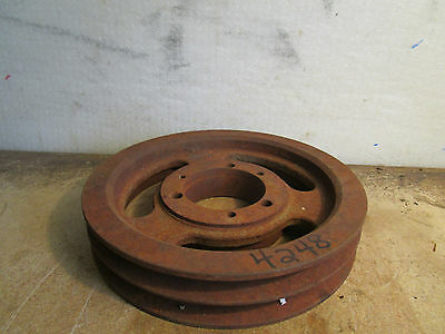 "Double Belt Pulley 2 5/8"" Bore  1 3/4"" Tall"