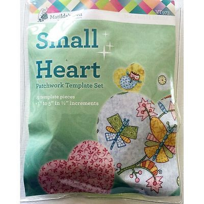 Matildas Own Hearts Patchwork Template Small Set of 9