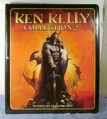 KEN KELLY Fantasy Art Trading Card 3-Ringed Binder Notebook with sleeves