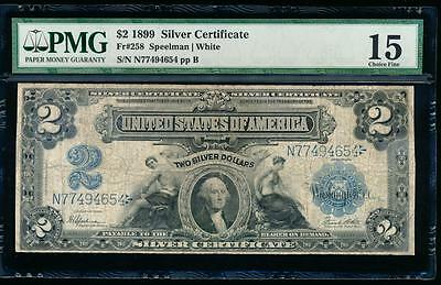 AC Fr 258 1899 $2 Silver Certificate PMG 15 Agricultural Note!