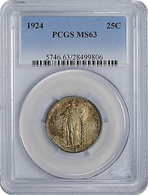 1924 Standing Liberty Quarter MS63 PCGS Mint State 63