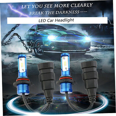 1 Pair 50W 6000LM 9005/9006/H8/H9/H11 LED Car Headlight 6000K Blue IP68 ET