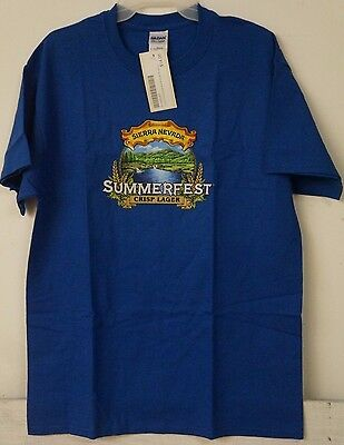 NEW Mens Sierra Nevada Summerfest Lager eer T-Shirt Brewery L Large Blue