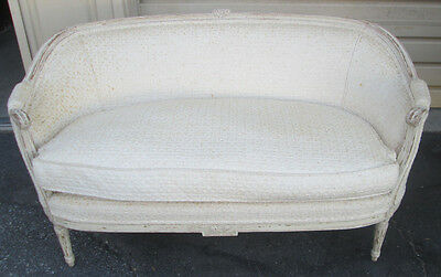 57652   Antique Romantic French Loveseat Couch Settee Chair