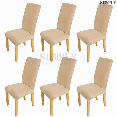 6pcs Super Fit Stretch Dinning Room Chair Cover Slipcovers Seat Cover Protector