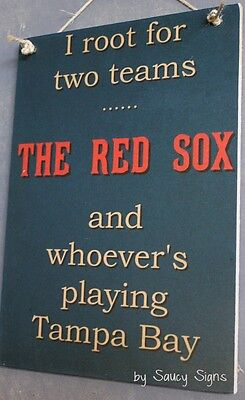 Boston Red Sox versus Tampa Bay Rays Baseball Sign Tickets Ball Card