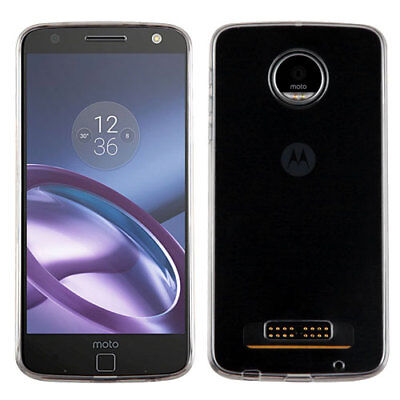 For Motorola XT1635 Moto Z Play Glossy Transparent Clear Skin Case Cover