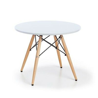 Modern Round Desk Table White Working Study Living Dinning Room Office