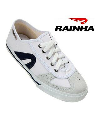 Rainha Capoeira Shoes VL2500 - White & Blue - Made in Brazil New in Box