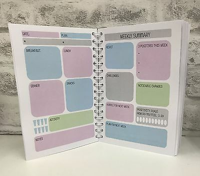 Food Diet Diary Tracker Journal Workbook Planner Suitable For Most Plans - BK 3