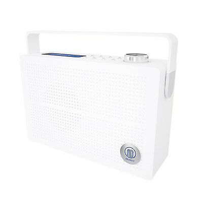 Majority Newnham DAB+ DAB FM Digital Portable Radio Rechargeable Battery White