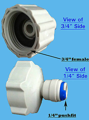 """3/4"""" BSP x 1/4"""" Push Fit Connector Water Filter Fitting Pushfit Adaptor reducer"""