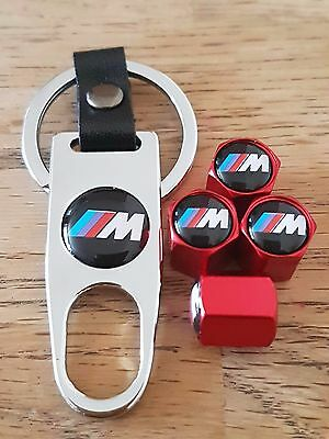 M3 BMW Red car Valve dust caps and Spanner Keyring boxed set All Models M Series