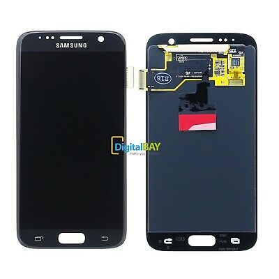 LCD TOUCH DISPLAY SCHERMO ORIGINALE NERO per SAMSUNG GALAXY S7 SM-G930