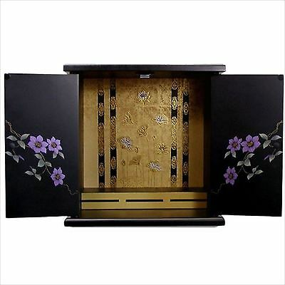 Mini BUTSUDAN  BUDDHIST ALTAR CABINET SHRINE Kannon Door F/S from JAPAN