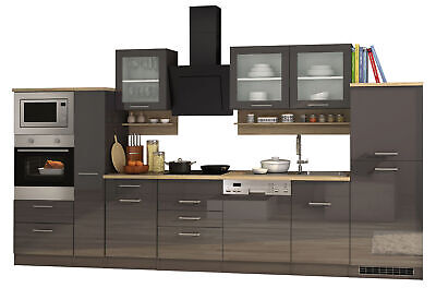 k chenzeile hochglanz rot k chenblock mit e ger ten sp lmaschine k che 280 cm eur. Black Bedroom Furniture Sets. Home Design Ideas