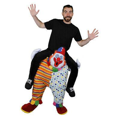 Clown Pick Me Up Ride On Costume Funny Circus Fancy Dress Karneval Fasching