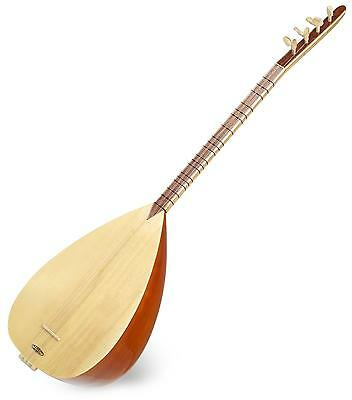 Saz Oriental Folk String Instrument Acoustic Guitar Mahagony Body Gigbag Picks