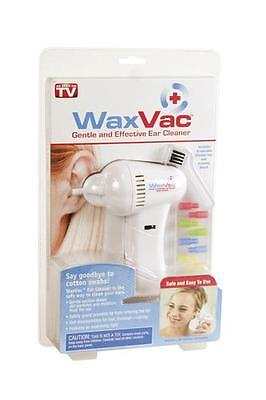 Cordless WaxVac Gentle Effective Ear Cleaner AS SEEN ON TV Silicone Tips Wax Vac