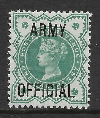 sg042 1d Green 'ARMY OFFICIAL' overprint UNMOUNTED MINT