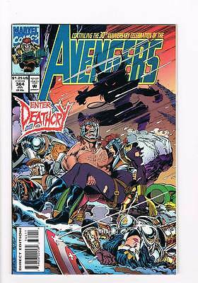 Avengers # 364 Call Her -- Deathcry ! grade - 9.0 scarce book !!