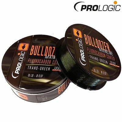 Prologic NEW Bulldozer Fluorocarbon Coated Trans Khaki Mono Line 1000m