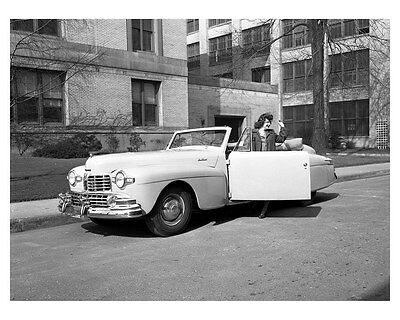 1946 Lincoln Continental Convertible ORIGINAL Factory Photo Negative ww6909