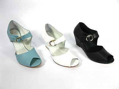 "Wholesale Lot 65 Pairs Cvine Open Toe Wedge Leather Women's Shoe, Model ""Ozee"""