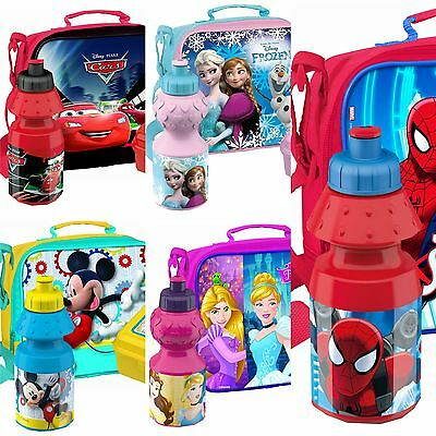 Childrens Character School Lunch Bag Food Container Box Drink Sports Bottle