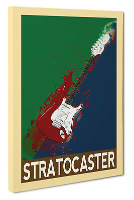 Fender Stratocaster Guitar Abstract Wall Art Canvas print Picture Size A1