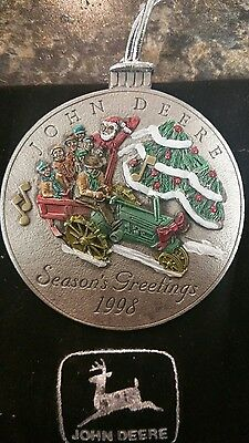 John Deere Limited Edition 1998 Pewter Christmas Ornament