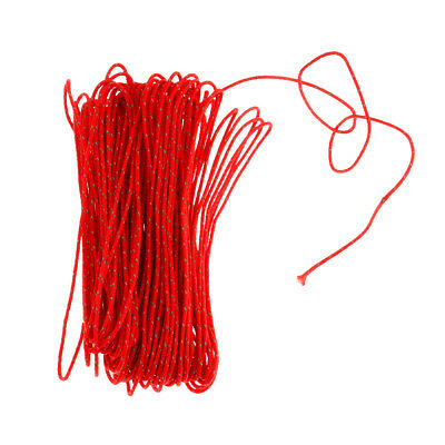 20M 1.8MM Outdoor Tent Awning Reflective Guyline Rope Runners Cord - Red