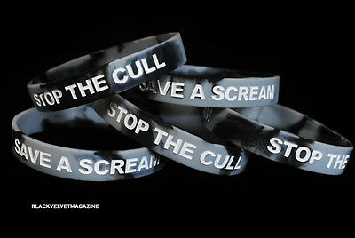 SAVE A SCREAM STOP THE CULL Animal Rights Wristband - Vegan - Save The Badgers