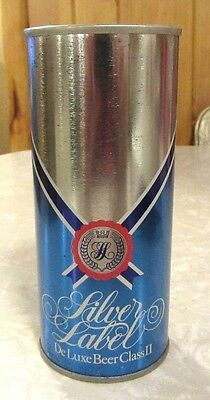 Silver Label DeLuxe ClassII Straight Steel Beer Can Bottom Open Made In Sweden