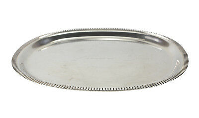 Wilkens & Sohne German 800 Silver Oval Tray Ribbed Rim Border, c.1960