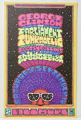 George Clinton Bootsy Collins Parliament Funkadelic, Bill Graham Fillmore Poster