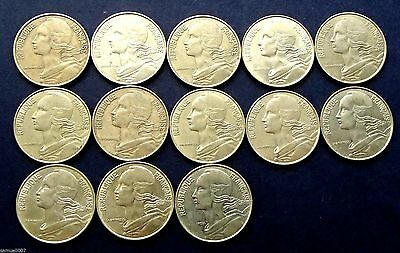 1963 - 1996 France 20 Centimes - 13 Coin Date Run - 137