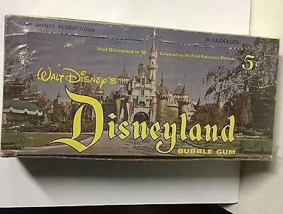 Walt Disney Disneyland cards rare empty display box 1960s