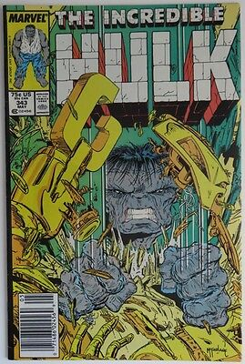 1988 Incredible Hulk #343  -  F                (Inv9549)