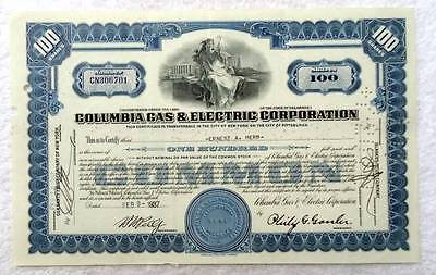 1937 Stock Certificate Columbia Gas & Electric Corporation #14