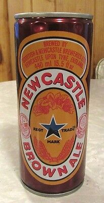 New Castle Brown Ale Crimped Steel Beer Can Top Open Made In England