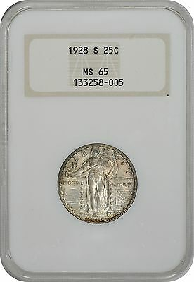 1928-S Standing Liberty Quarter MS65 NGC Mint State 65