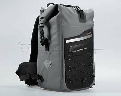 Backpack Drybag 300 Tarpaulin motorcycle, Waterproof. Grey Black. 30 l.
