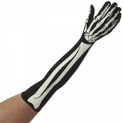 Long Skeleton Gloves Costume Accessory Adult Halloween