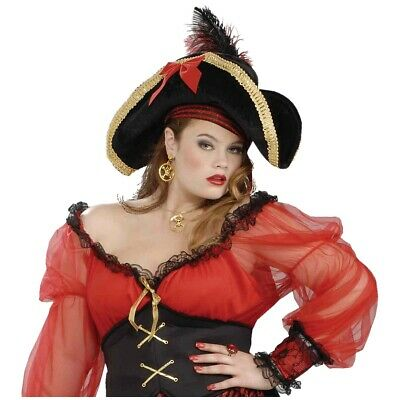 Buccaneer Lady Pirate Hat Costume Accessory Adult Halloween