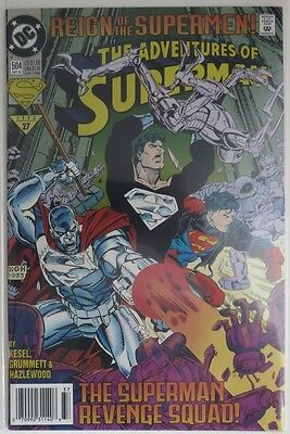 1993 The Adventures Of Superman #504  -  Vf                     (Inv9125)