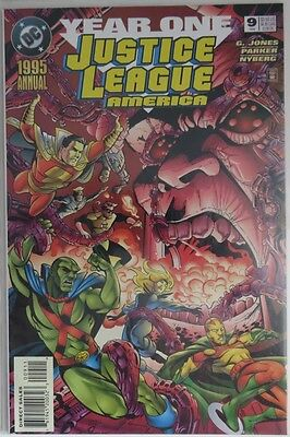 1995 Justice League America Annual #9 Year One -   Vf                (Inv9029)