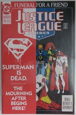 1993 Justice League America #70  Funeral For A Friend -   Nm           (Inv9004)